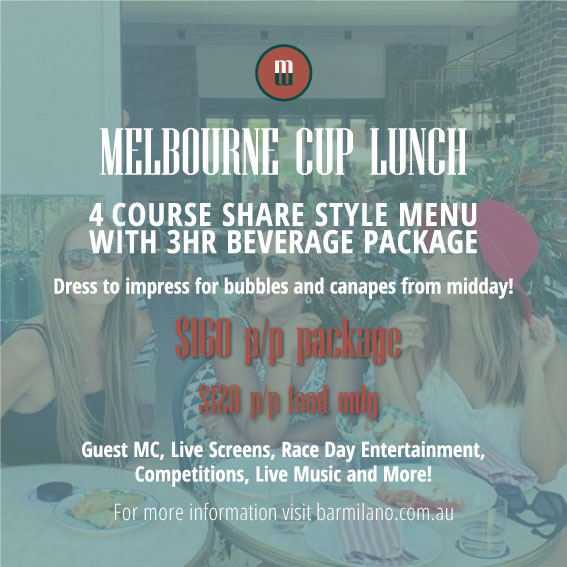 Melbourne cup lunch at barmilano
